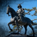 Statue of Date Masamune Up Close