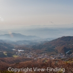 Panorama view of valley from mount zao 2