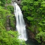 Akiu Great Falls in Autumn